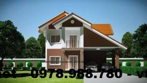 Thiết kế nội thất biệt thự 2 tầng mái thái NETBT2T4