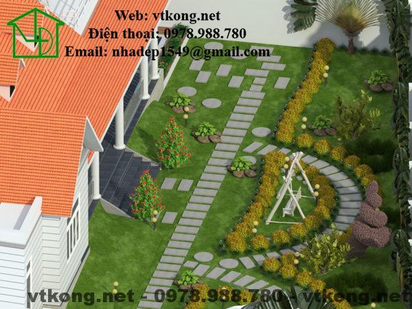 Biệt thự vườn 1 tầng mái thái NETBT1T7