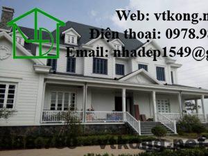 Thiết kế mẫu biệt thự 2 tầng mái thái đẹp NETBT2T5