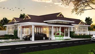 Thiết kế mẫu biệt thự 1 tầng đẹp mái thái NETBT1T8