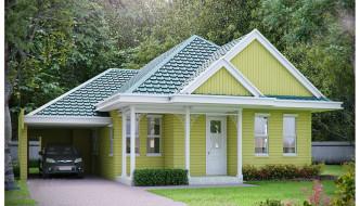 Thiết kế nhà cấp 4 mái thái, nhà cấp 4 mái thái NETNC495