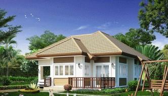 Thiết kế nhà vườn 1 tầng đẹp, nhà vườn đẹp NETBT1T10