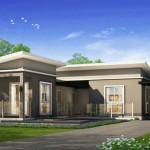 Nhà cấp 4 hình chữ L mái lệch 90m2 giá 350 triệu NETNC497