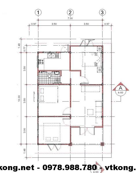 Mặt bằng nhà nhỏ đẹp NETNC4102