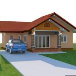 Thiết kế biệt thự mini 1 tầng, biệt thự mini NETBT1T12