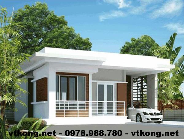 Nhà cấp 4 mái bằng NETNC4100