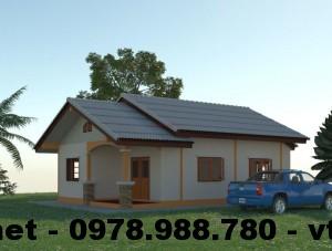 Thiết kế nhà nhỏ đẹp, mẫu nhà cấp 4 nhỏ đẹp NETNC4102