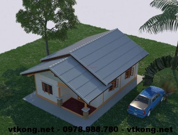 Tổng thể nhà nhỏ đẹp NETNC4102