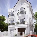Mẫu nhà biệt thự 3 tầng, nhà biệt thự 3 tầng đẹp NETBT3T1