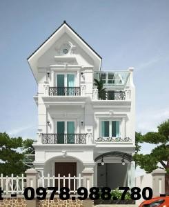 Biệt thự 3 tầng đẹp, thiết kế biệt thự 3 tầng đẹp NETBT3T2