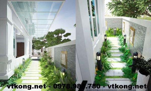 Sân vườn biệt thự 3 tầng NETBT3T2