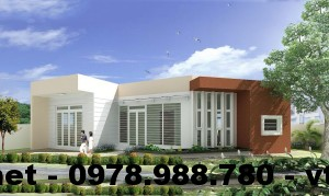 Thiết kế nhà cấp 4 mái bằng, nhà cấp 4 mái bằng NETNC4109