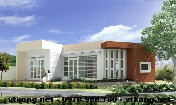 Nhà cấp 4 mái bằng NETNC4109