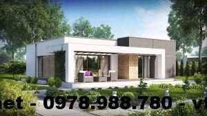 Nhà cấp 4 mái bằng, xây nhà cấp 4 mái bằng NETNC4111