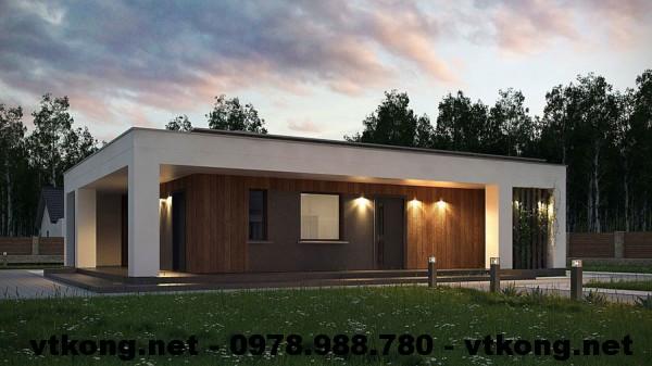 Nhà cấp 4 mái bằng NETNC4113