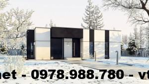 Nhà cấp 4 mái bằng nhỏ đẹp, nhà cấp 4 giá rẻ NETNC4116