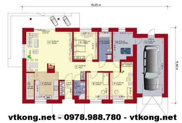 Biệt thự 1 tầng giá rẻ NETBT1T20