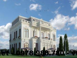 Mẫu biệt thự cổ điển, biệt thự cổ điển Chấu Âu NETBT3T9