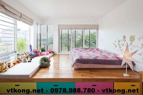 Phòng ngủ tầng 2 biệt thự NETBT3T10