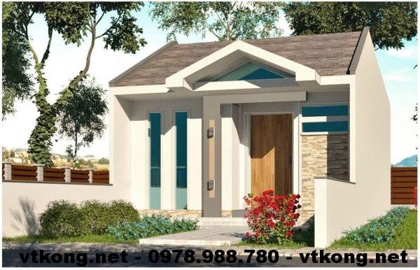 Thiết kế nhà cấp 4 mái thái NETNC4118