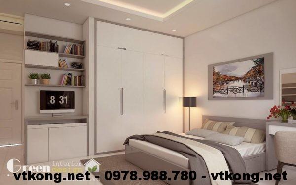 Phòng ngủ master nội thất nhà phố