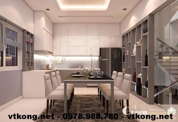 Phòng bếp nội thất nhà phố