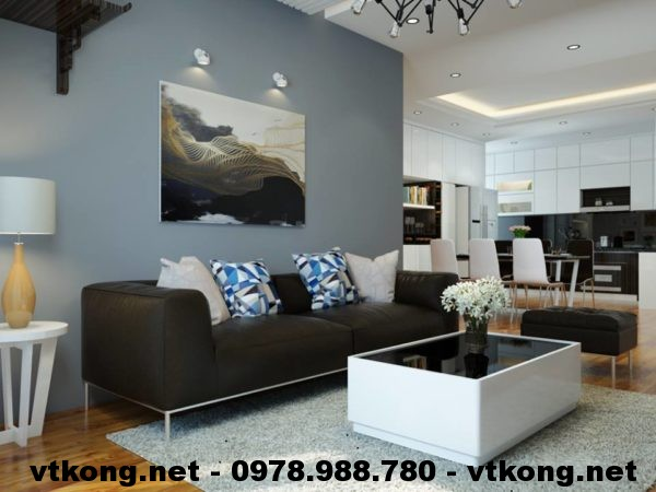 Bàn ghế sofa chung cư đẹp NETNTCC9