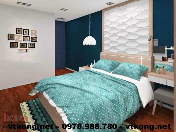 Giường ngủ chung cư đẹp NETNTCC7