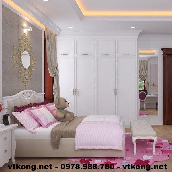 Giường ngủ tân cổ điển NETNTCC5
