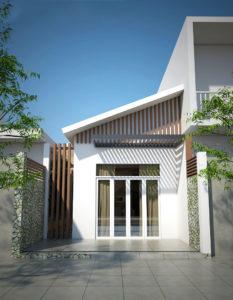 Nhà cấp 4 mái lệch, mẫu nhà cấp 4 mái tôn giá 450 triệu NETNC4120