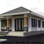 Nhà cấp 4 mái thái đẹp, thiết kế nhà cấp 4 mái thái đẹp NETNC4122