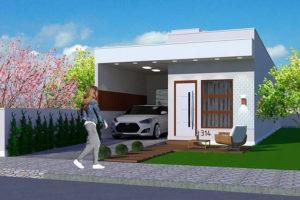 Nhà cấp 4 mái tôn đẹp, mẫu nhà cấp 4 giá rẻ 6x18m NETNC4123