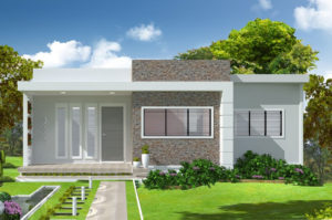 Nhà mái bằng 1 tầng đẹp, mẫu thiết kế nhà mái bằng 1 tầng NETNC4121
