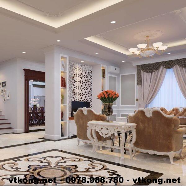 Nội thất phòng khách chung cư NETNTCC5