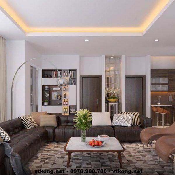 Nội thất phòng khách chung cư NETNTCC6