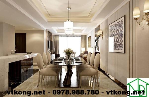 Phòng ăn chung cư hiện đại NETNTCC8