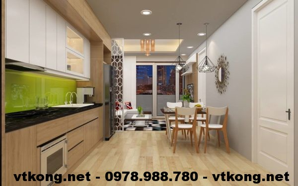 Phòng bếp chung cư đẹp NETNTCC11
