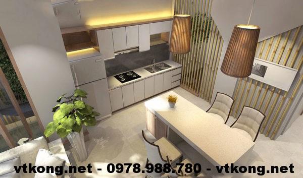 Phòng bếp nhà cấp 4 mái tôn NETNC4120