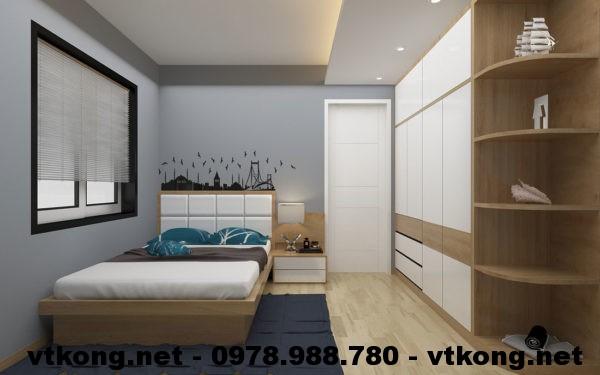 Phòng ngủ bố mẹ chung cư đẹp NETNTCC11