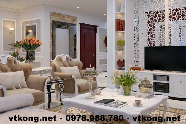 Sofa tân cổ điển chung cư  NETNTCC5
