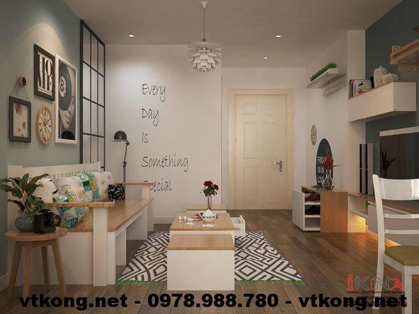 Thiết kế nội thất chung cư NETNTCC7