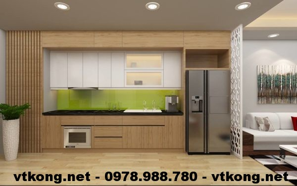 Tủ bếp chung cư đẹp NETNTCC11