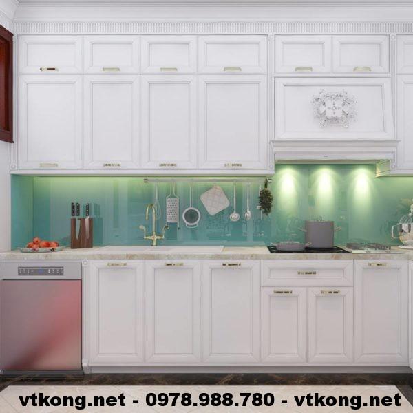 Tủ bếp chung cư tân cổ điển NETNTCC5