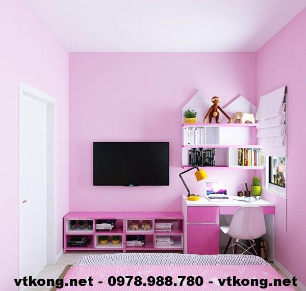 Kệ tivi và bàn học phòng ngủ NETTKNT1