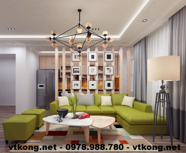 Nội thất phòng khách chung cư NETNTCC12