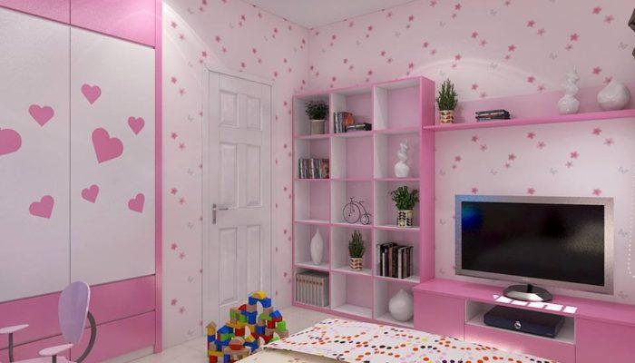 Nội thất phòng ngủ cho bé, phòng ngủ bé gái NETTKNT1