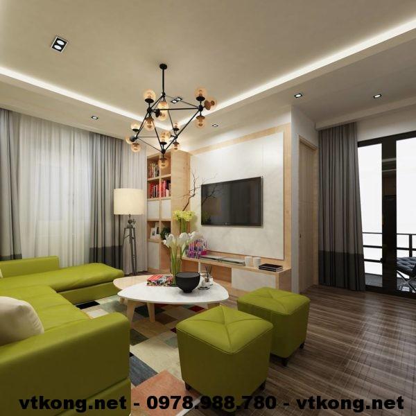 Phòng khách chung cư đẹp NETNTCC12
