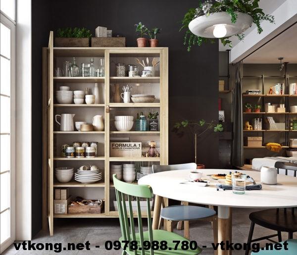 Bàn ghế ăn và tủ trang trí netntcc14