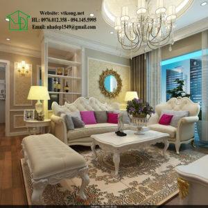 Chung cư tân cổ điển, thiết kế chung cư tân cổ điển NETNTCC15