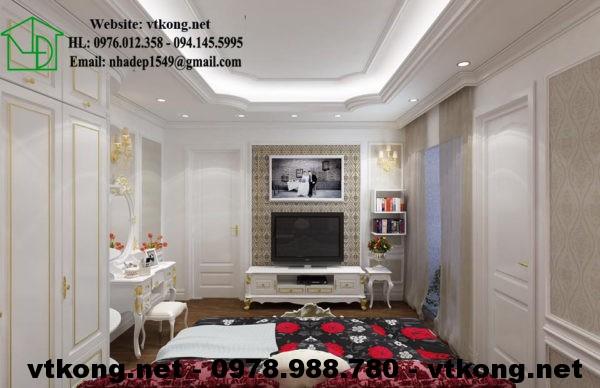 Thiết kế chung cư phong cách tân cổ điển NETNTCC15